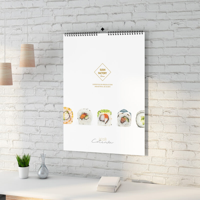 Sushi Factory Team. Diseño Calendario