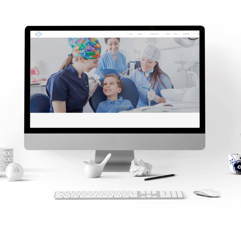 Desarrollo web Clinica Dental Soma. Sección odontopediatría